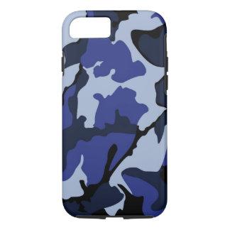 Blått Camo, tufft fodral för iPhone 7