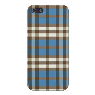 Blått-/chokladpläd Pern iPhone 5 Cases