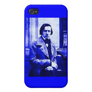 Blått Chopin mig iPhone 4 Hud