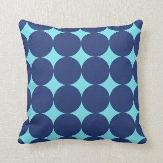 Blått cirklar design kudde