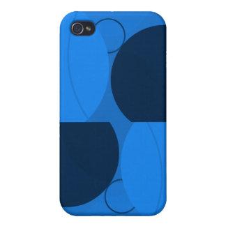Blått cirklar iPhone 4 skal