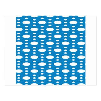 Blått cirklar vykort