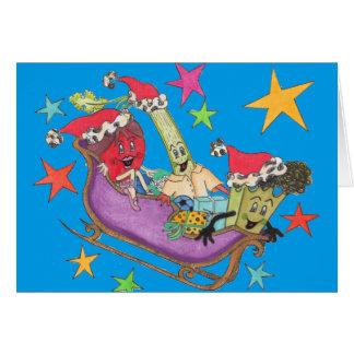"""Blått Crunchy Starry"""" julkort Hälsningskort"""