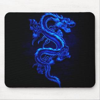blått-drake-svart-avfyra musmattor