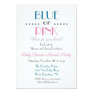 Blått- eller rosagender avslöjer inbjudan