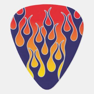 Blått flammar gitarr Plektrumplectrumen Plektrum