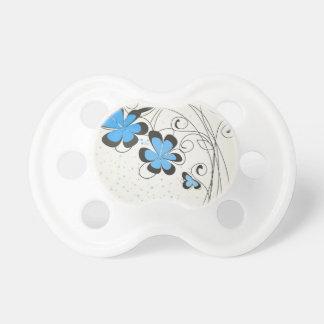 Blått flower2 napp