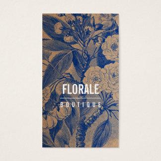 Blått för blommor för vintage för modernt visitkort