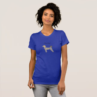 Blått för flickautslagsplatsskjortan förföljer t shirts