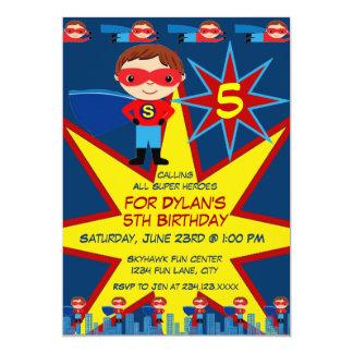 Blått för födelsedagsfest inbjudan för 12,7 x 17,8 cm inbjudningskort