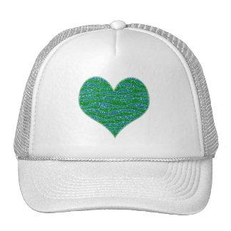 Blått för grönt för glitterzebra ränderglitter keps