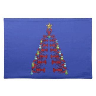 Blått för jul för gulligt ställe för hummer bordstablett