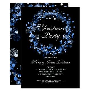 Blått för juljulfestkran 12,7 x 17,8 cm inbjudningskort