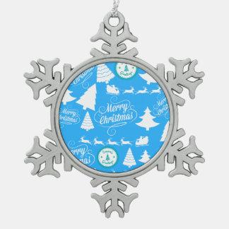 Blått för kricka för god julträdSanta ren