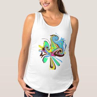 Blått för rosor för moderskaptanktopvit t-shirt