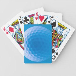 Blått för skrattgropar för golfbollstrukturLook Spelkort