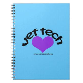 blått för vettechanteckningsbok anteckningsbok med spiral