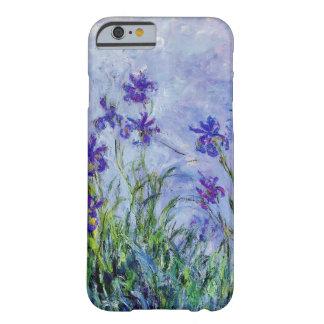 Blått för vintage för Claude Monet lilaIrises Barely There iPhone 6 Skal