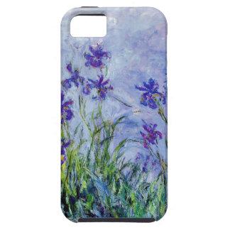 Blått för vintage för Claude Monet lilaIrises Tough iPhone 5 Fodral
