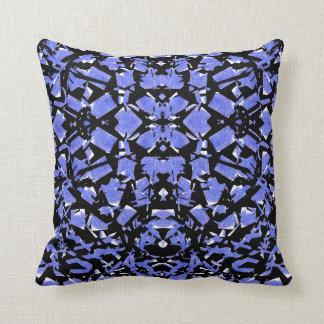Blått formar dekorativ kudde