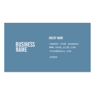 Blått formaterar med kondenserat typsnitt för set av standard visitkort