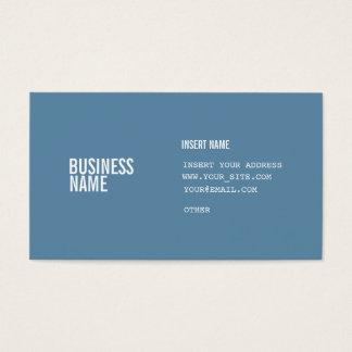 Blått formaterar med kondenserat typsnitt för visitkort