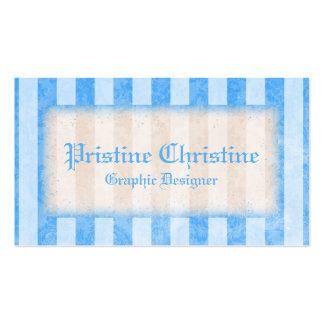 Blått görade randig gränsvisitkortar visitkort