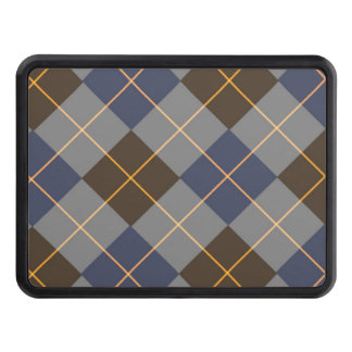 Blått- & grå färgArgyle design Dragkroksskydd