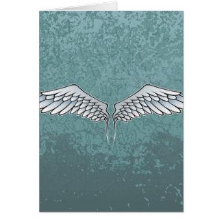 Blått-grått vingar OBS kort
