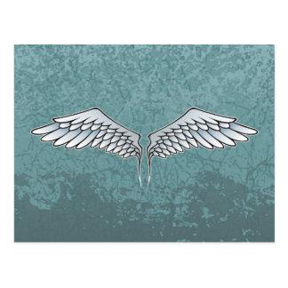 Blått-grått vingar vykort