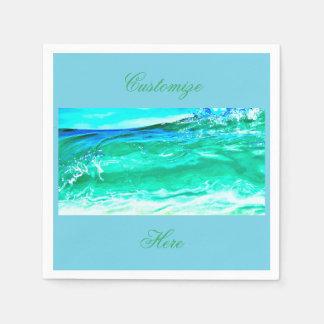blått/gröna maui vinkar Thunder_Cove Pappersservett
