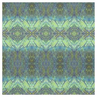 Blått-, grönt- & TaupetygIkat stil 'Newark Tyg