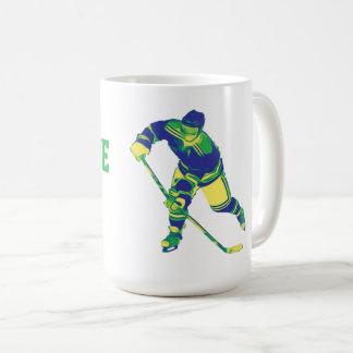 Blått- & gröntishockeyspelare, personlig mugg