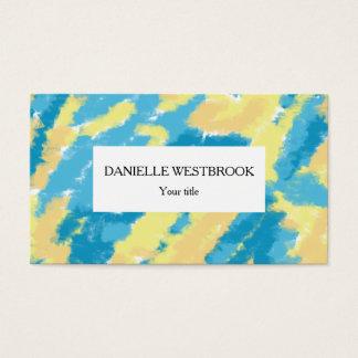 Blått-, gult- och orangehimmelmönster visitkort