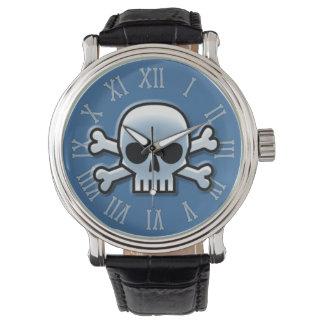 Blått Jolly Roger Armbandsur