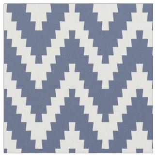 Blått & kräm- tyg för Ziggurat sparremönster