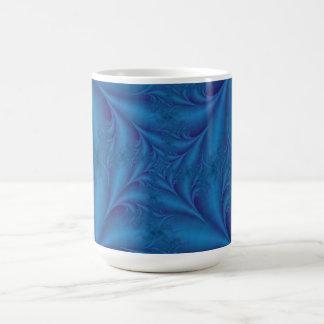 Blått kvadrerar den spiral muggen kaffemugg