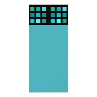 Blått kvadrerar mönster reklamkort
