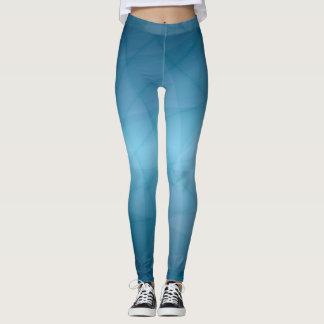 Blått Leggings