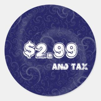 Blått märker med skatt runt klistermärke