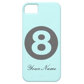 Blått numrerar fodral åtta iPhone 5 skydd