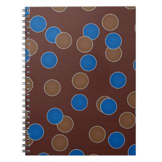Blått och bruntbollar anteckningsbok