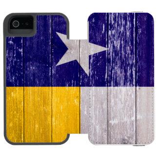 Blått och den guld- Texas flagga målade gammalt