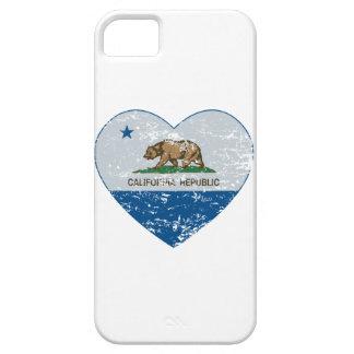blått och grå färg för hjärta för Kalifornien iPhone 5 Case-Mate Skydd