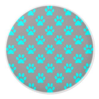 Blått- och grå färgtassmönster knopp