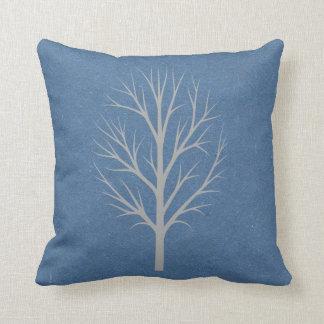 Blått- och gråttvinterträd kudde