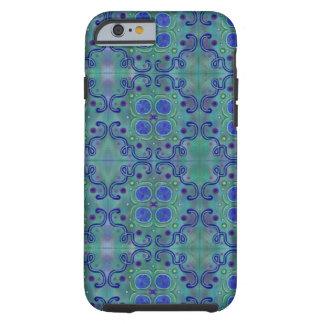 Blått och grönt tough iPhone 6 skal