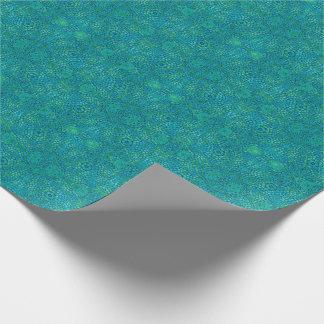Blått- och gröntabstraktmönster presentpapper