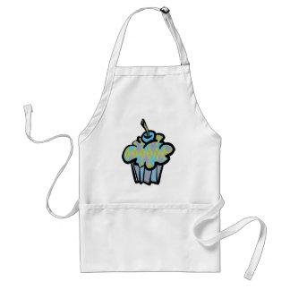 blått- och gröntargylemuffin förkläde