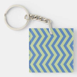 Blått- och gröntsparre Keychain